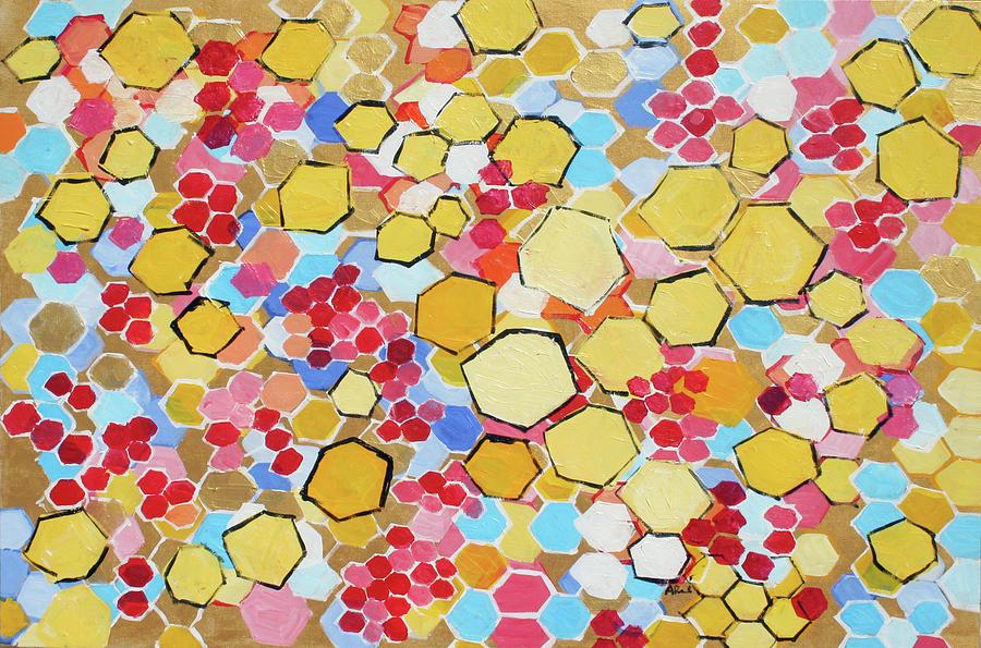 Honey Painting - Honeycomb 201755 by Alyse Radenovic