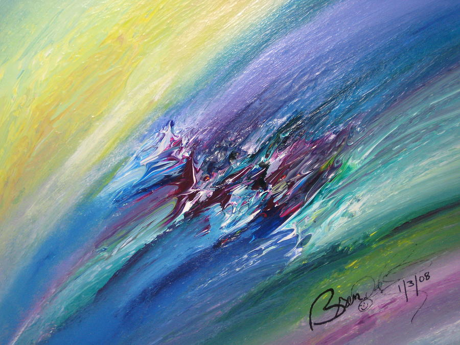 Abstract Painting - Honeymoon Bliss - C by Brenda Basham Dothage