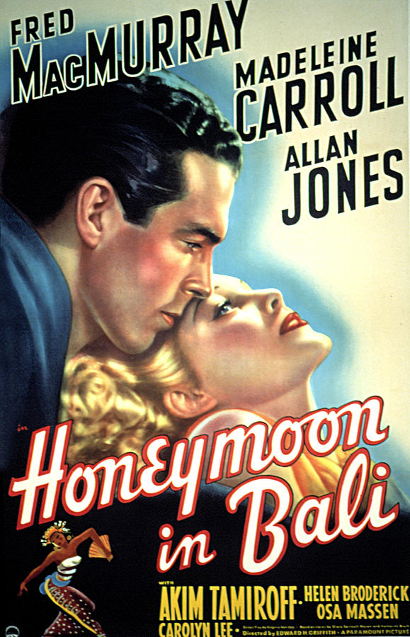 1930s Movies Photograph - Honeymoon In Bali, Fred Macmurray by Everett