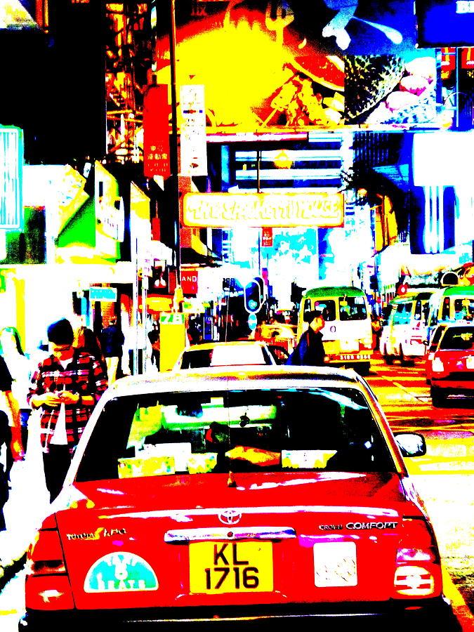 Asia Photograph - Hong Kong Cabs by Funkpix Photo Hunter