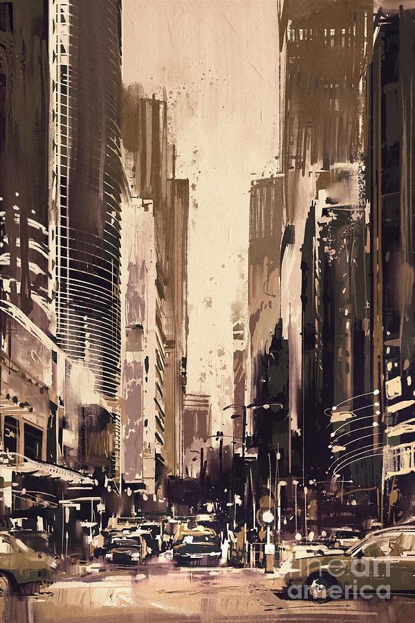 Hong-kong Cityscape Painting Painting
