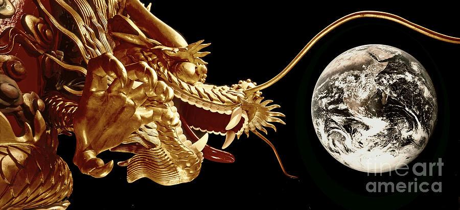 Aberdeen Photograph - Hong Kong Dragon  by Juergen Held