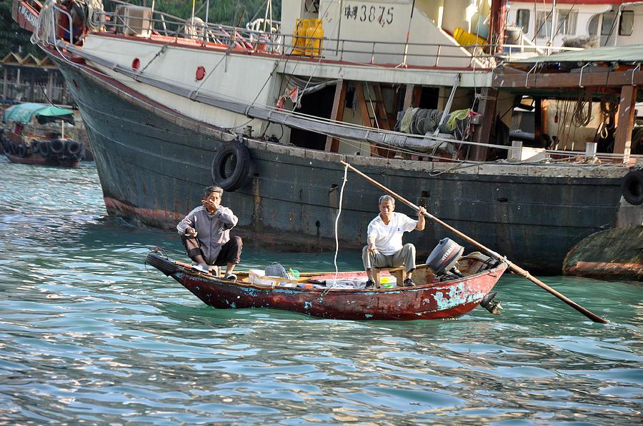 Hong Kong Photograph - Hong Kong Fishing by Caroline Reyes-Loughrey