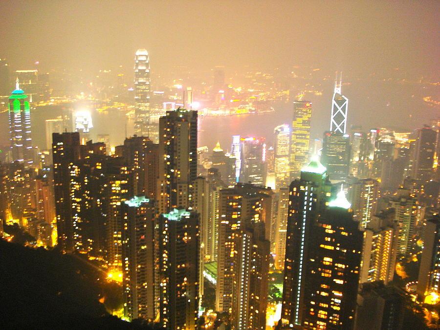 Landscape Photograph - Hong Kong Harbor by Britta Loucas