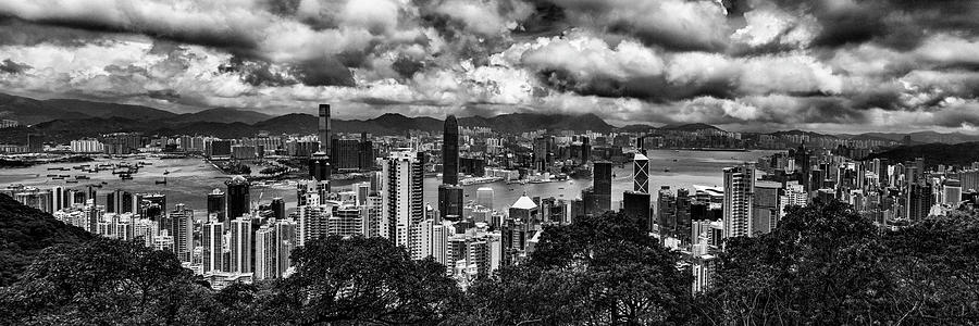 Hong Kong Photograph - Hong Kong In Black And White by Karen Regan