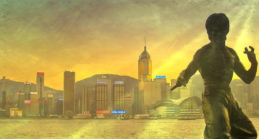 Loriental Photograph - Hong Kong Lights by Loriental Photography