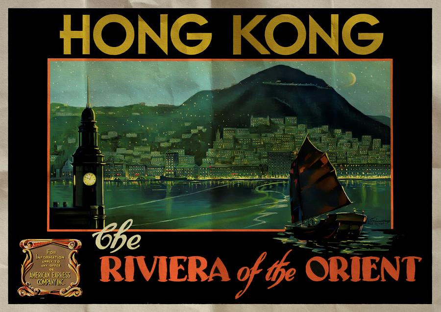 Hong Kong The Riviera of the Orient - Folded by Vintage Advertising Posters