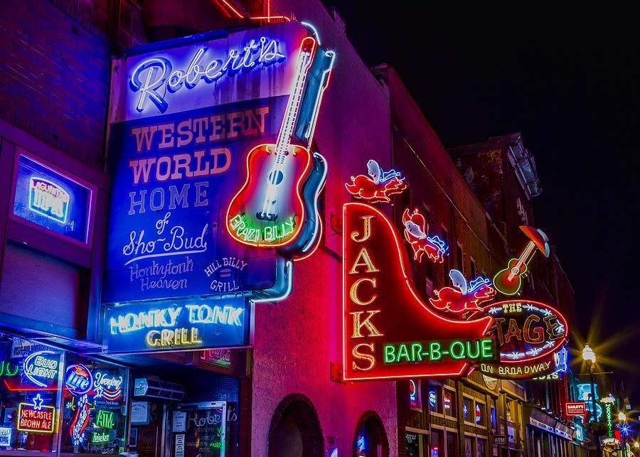 Nashville Photograph - Honky Tonk Broadway by Stephen Stookey
