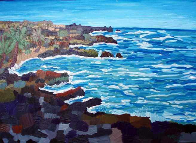 Impressionistic Painting - Honokauha   South by Patrice Tullai