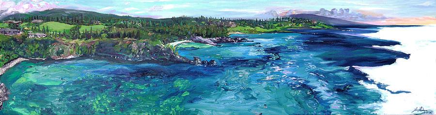 Maui Painting - Honolua Bay Cliffs by Joseph Demaree