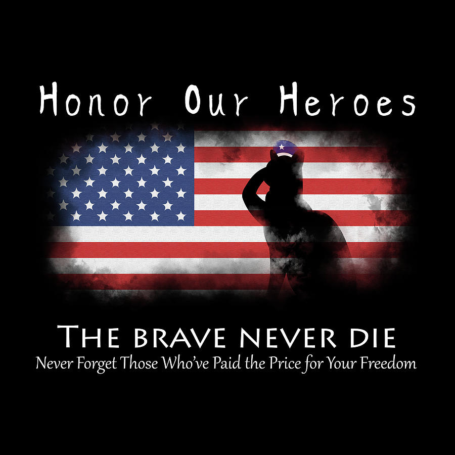America Digital Art - Honor Our Heroes On Memorial Day by Catifornia Shop