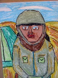 Army Painting - Honorable Soldier by Annie Dameron