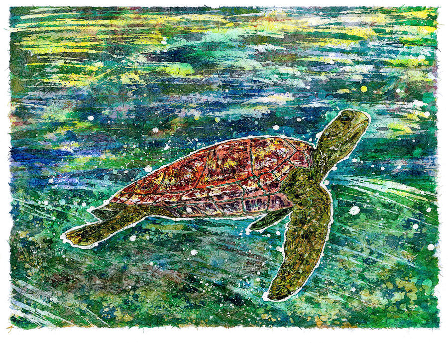 Honu Painting - Honu by Nick Cantrell