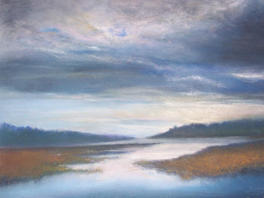 Landscape Pastel - Hood Canal - High Tide by Jackie Bush-Turner
