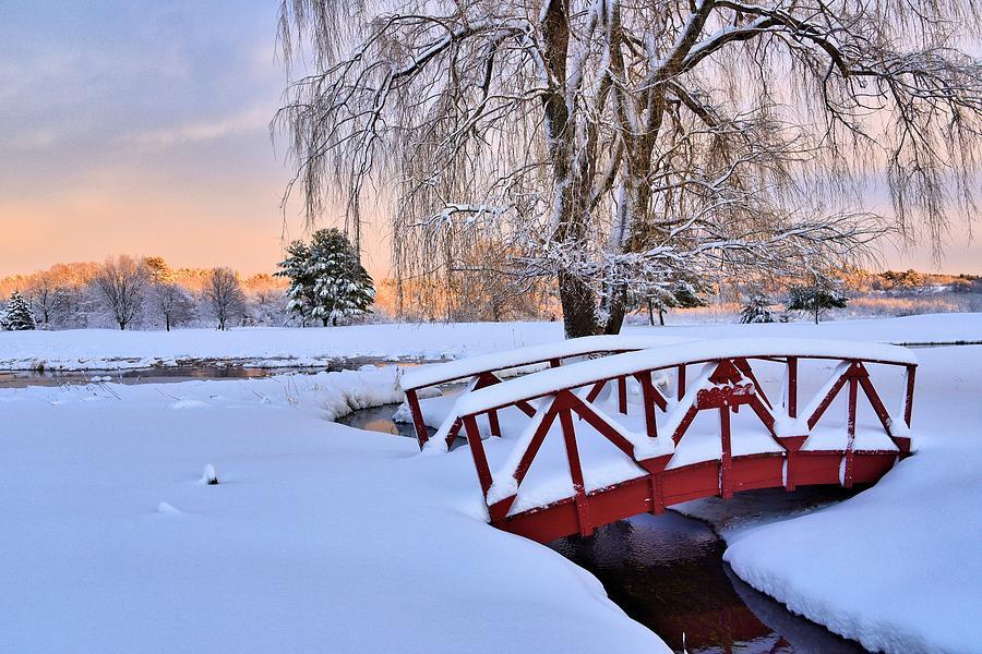Winter Landscape Photograph - Hoodkroft Winter2 by John Sweeney
