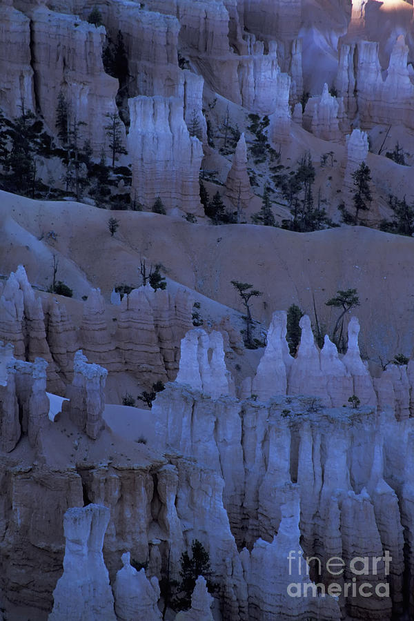 Utah Photograph - Hoodoos Before Dawn by Stan and Anne Foster