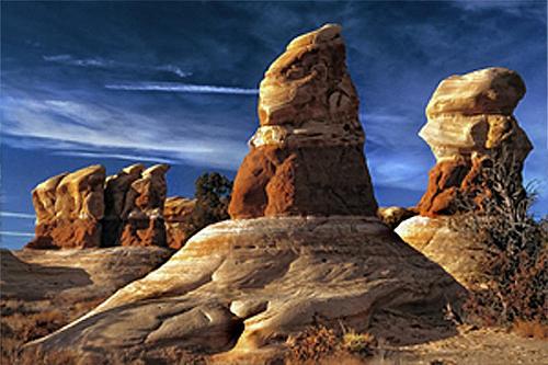 Hoodoos In The Escalante Desert Photograph