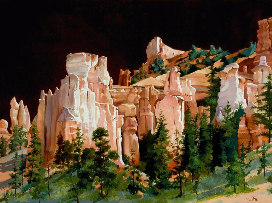 Hoodoos Painting - Hoodoos by Lester Nielsen