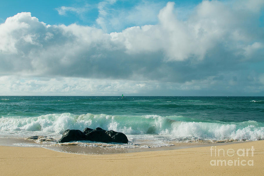 Hookipa Beach Photograph - Hookipa Beach Pacific Ocean Waves Maui Hawaii by Sharon Mau