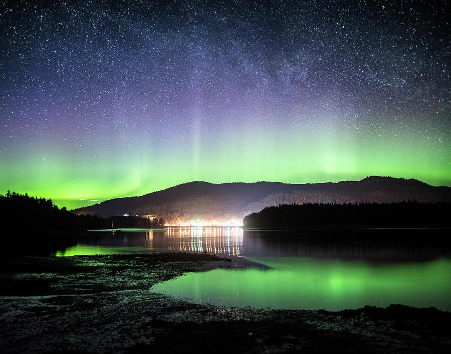 Alaska Photograph - Hoonah Aurora by Ian Johnson