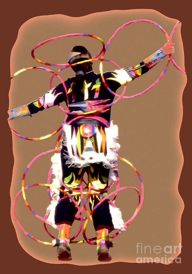 Abstract Photograph - Hoop Dancer 2 by Linda  Parker