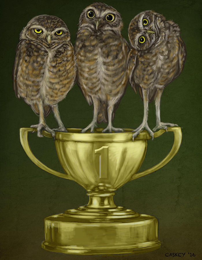 Burrowing Owls Painting - Hoos On First by Bethany Caskey
