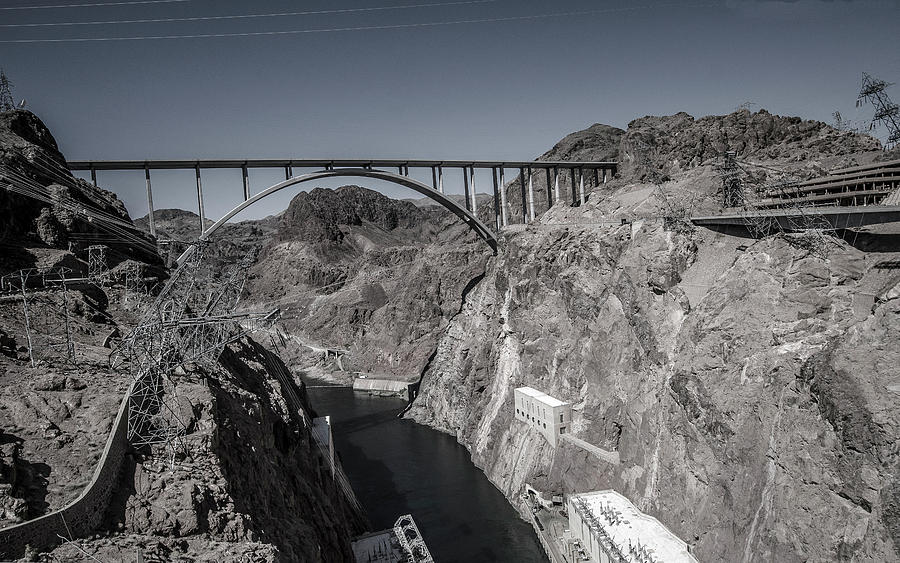 Scenic Photograph - Hoover Dam Bridge by William Bitman