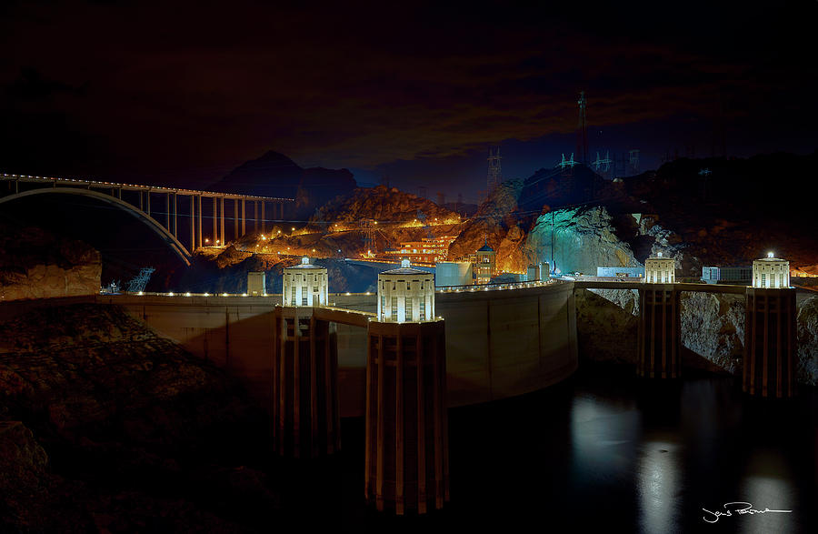 Arch Photograph - Hoover Dam by Jens Peermann