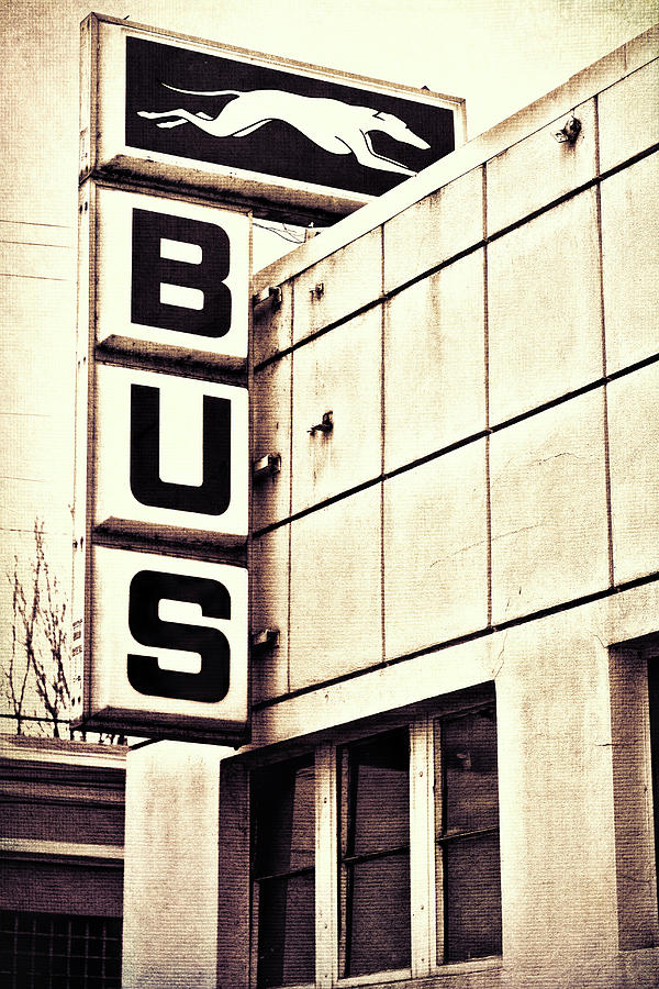 Bus Photograph - Hop On by Kristen Wilcox