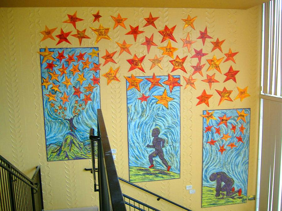 Mural Painting - Hope Dream Success by Maw Bear -Kimberly Webber Young