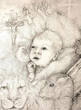 Christmas Drawing - Hope Eternal by Jennifer Kirton