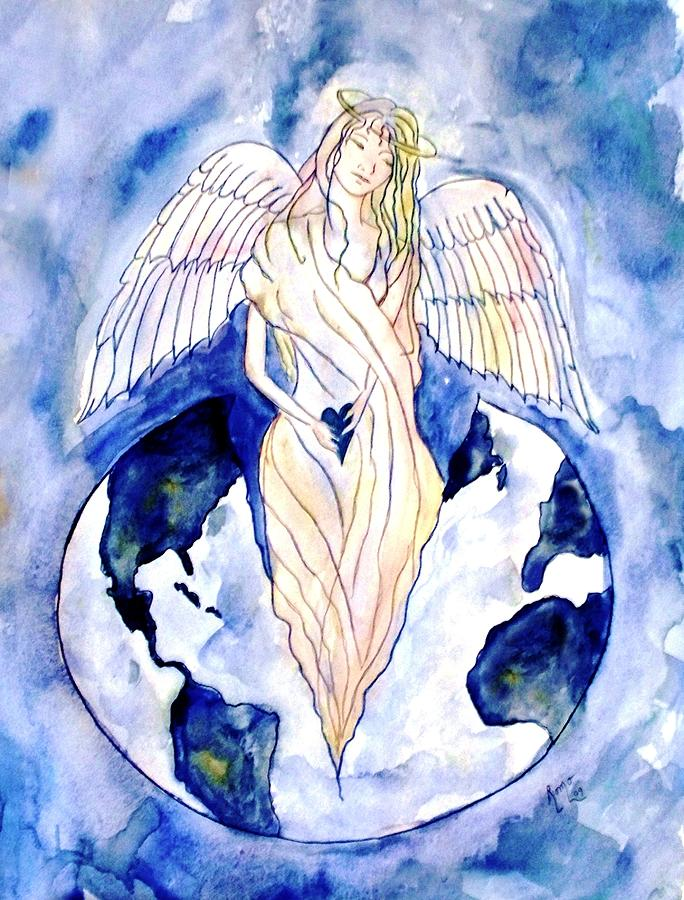 Watercolor Painting Painting - Hope For A Broken World by Robin Monroe