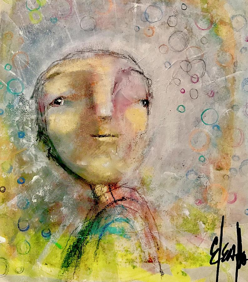 Boy Mixed Media - Hope For Tomorrow by Eleatta Diver
