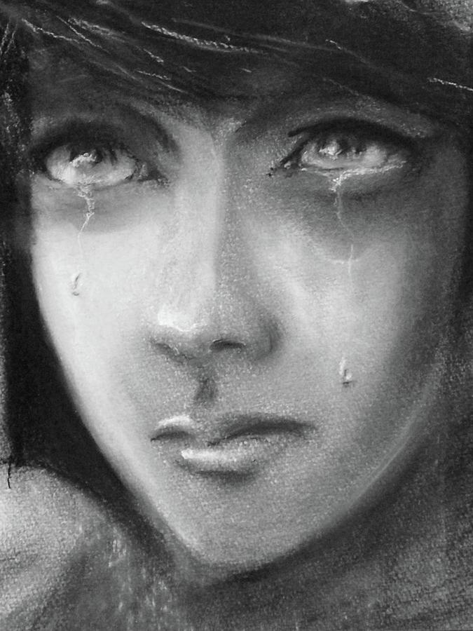 Girl Drawing - Hope by Ian MacQueen