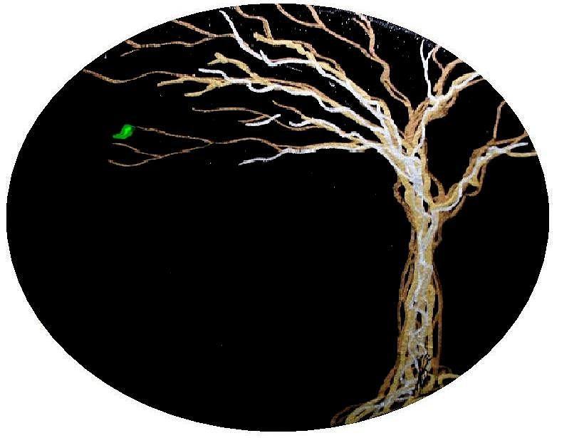 Leaf Painting - Hope by Jim Harris