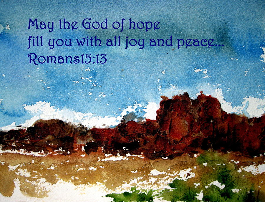 Peace Painting - Hope Joy And Peace by Anne Duke