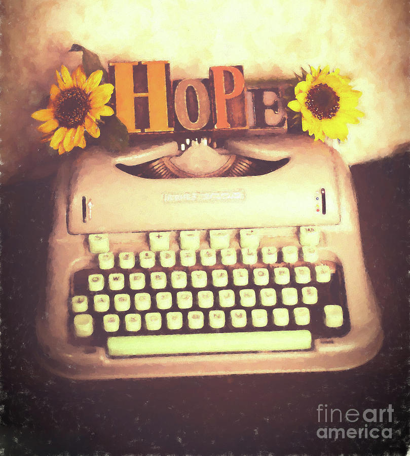 Hope On The Typewriter Photograph