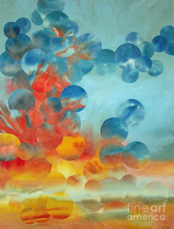 Skyscape Painting - Hope Rising by Jeni Bate