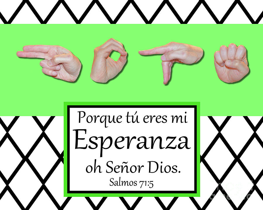 Christian Photograph - Hope Spanish - BW Graphic by Masters Hand Collection