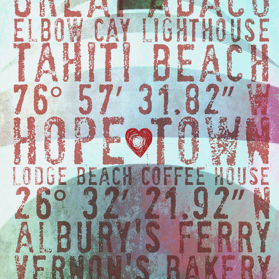Brandi Fitzgerald Digital Art - Hope Town Lighthouse V2 by Brandi Fitzgerald