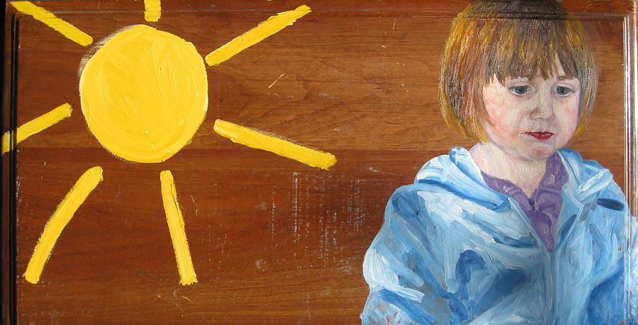 Girl Painting - Hope With Sun by Marianne Devine