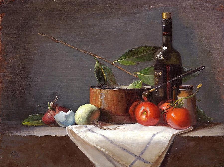 Still Life Painting - Hopeful Beginnings by Cary  Jurriaans
