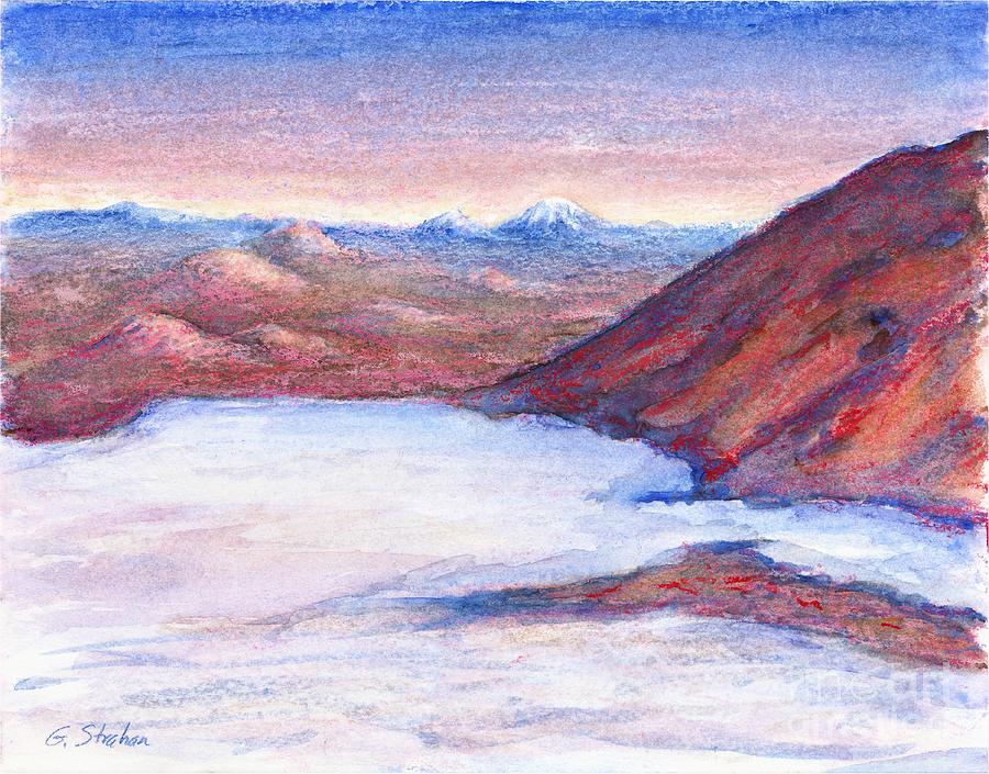 Oil Pastel Painting - Hopes Outlook by Gary Strahan