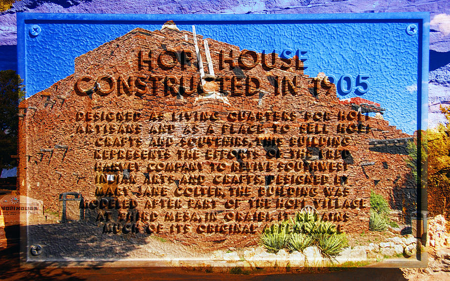 American Indian Photograph - Hopi House And Dedication Plaque by David Lee Thompson