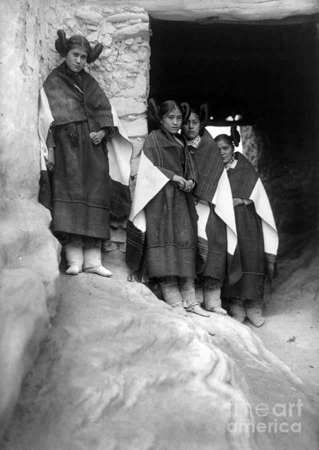 1906 Photograph - Hopi Maidens, 1906 by Granger
