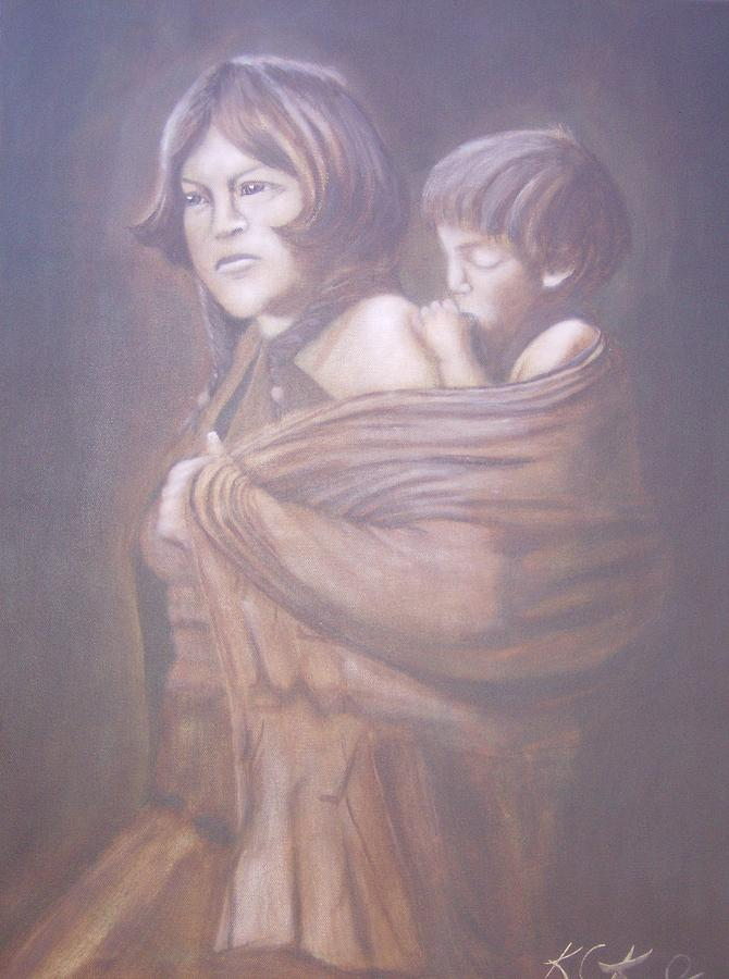 Indians Painting - Hopi Mother by KC Knight