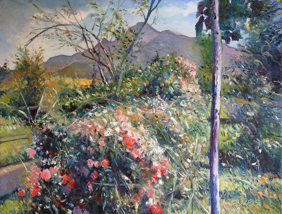 Oils On Canvas Painting - Horingberg Horn Mountain Eastern Cape South Africa by Enver Larney