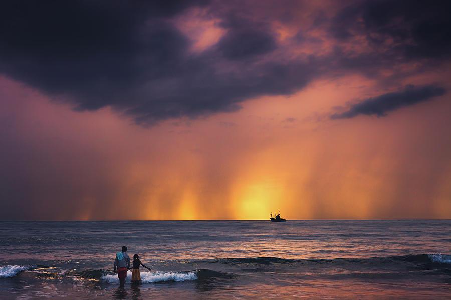 Asia Photograph - Horizon by Marji Lang