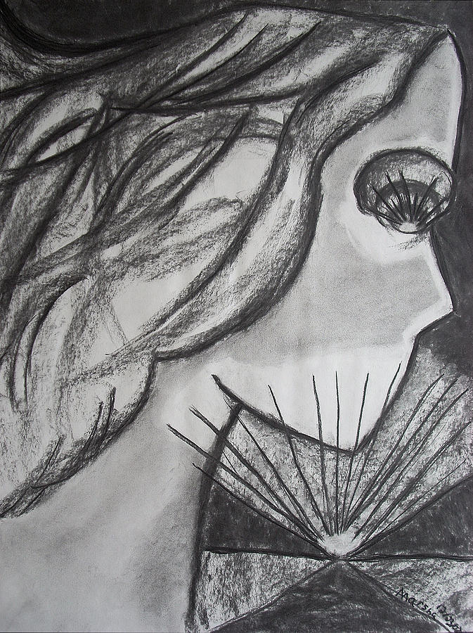 Face Drawing - Horizon by Marsha Ferguson
