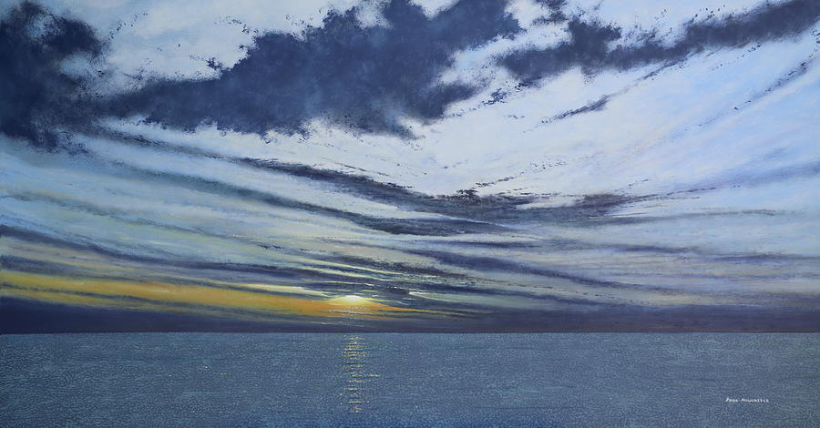 Seascape Painting - Horizon by Paul Newcastle